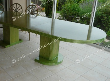 Table LANOUX ovale avec 1 allonge